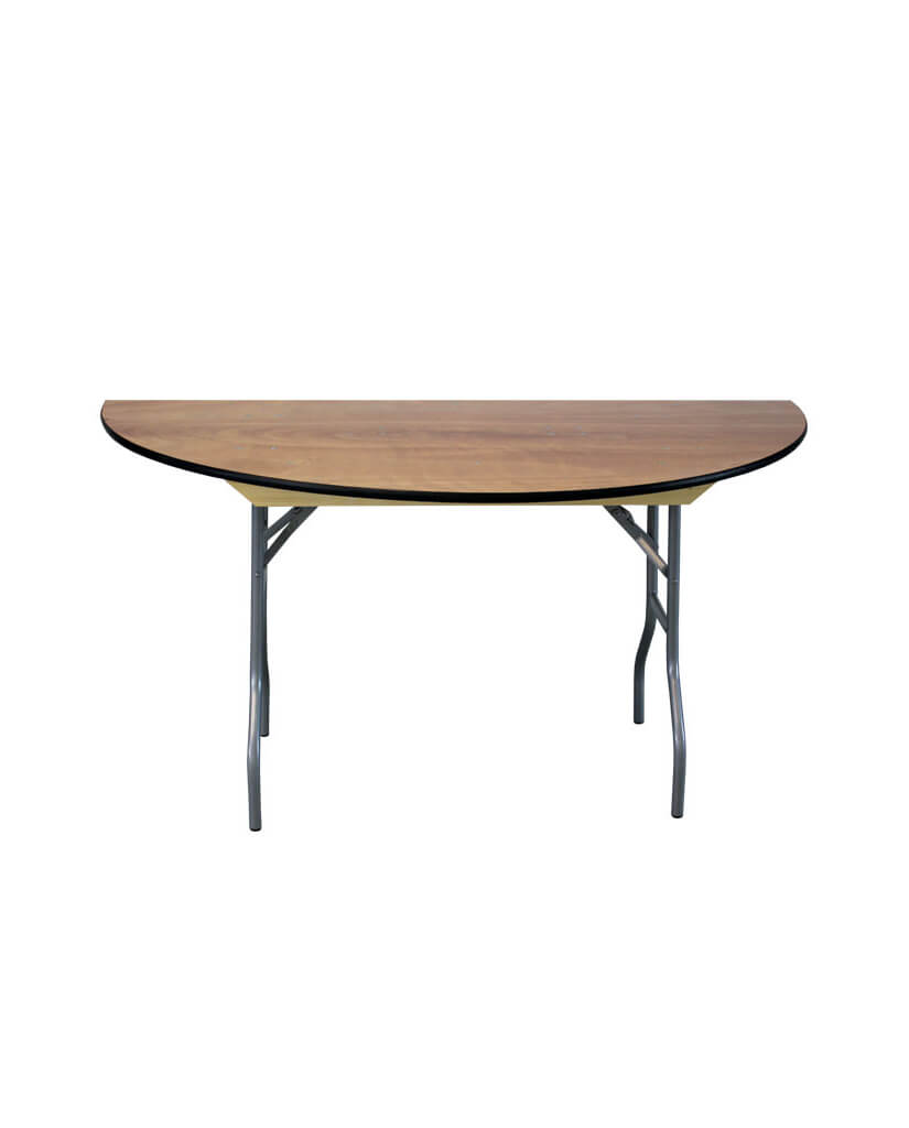 60 Semi Round Wood Table Party On Demand